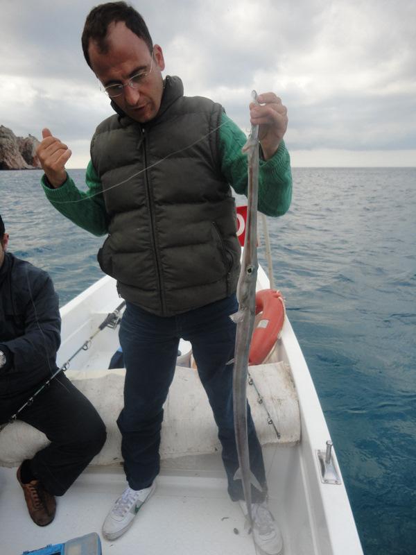 Böyle Trompet Balığı Avı Görülmemiştir